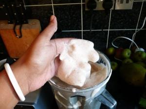 soapnut powder foam froth