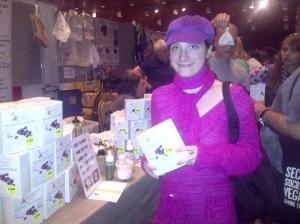 Anastasia Jakovleva at soapnuts stand
